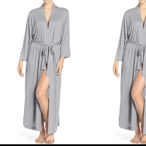 Natori Robe 2X Heather Gray Modal Plus Size
